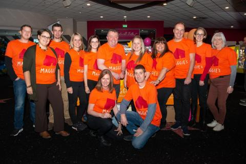 The Jennings Team at the bowling event